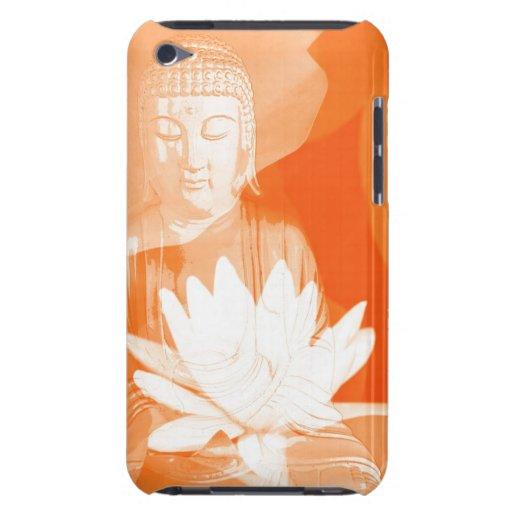 Saffron Buddha Gautama with lotus flower Case-Mate iPod Touch Case