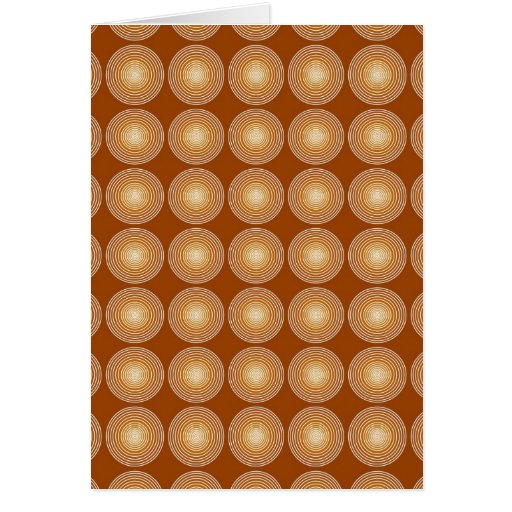 Saffron Color Circles Pattern Greeting Card