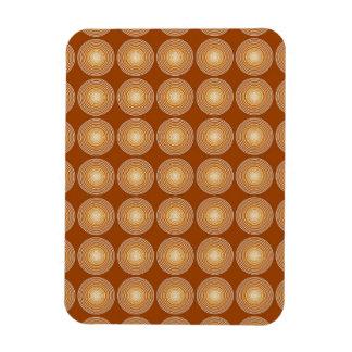 Saffron Color Circles Pattern Magnet