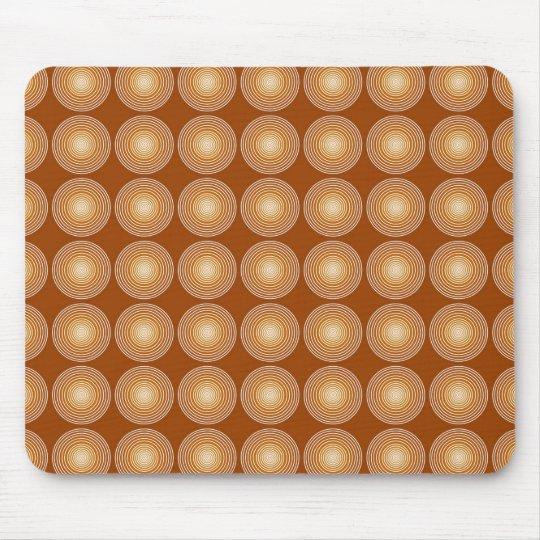 Saffron Color Circles Pattern Mouse Pad