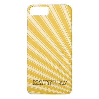 Saffron Color Stripe Funky Pattern iPhone 7 Plus Case