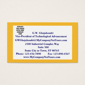 Saffron-Colored Border Mission Statement Business Card