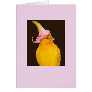 Saffron finch/calla lily card
