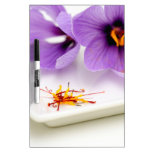 Saffron Flowers Dry Erase Board