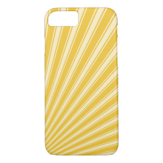 Saffron Funky Sun Rays Background iPhone 7 Case