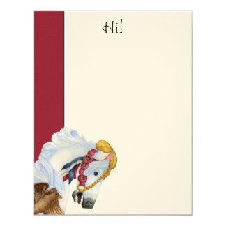 Saffron Hi! Flat Note Card