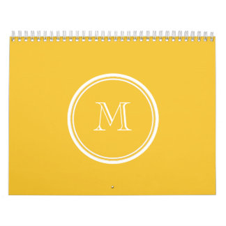 Saffron High End Colored Personalized Calendar