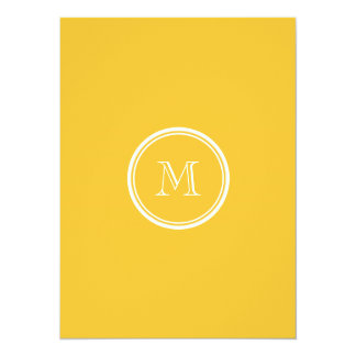 Saffron High End Colored Personalized Card