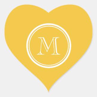 Saffron High End Colored Personalized Heart Sticker