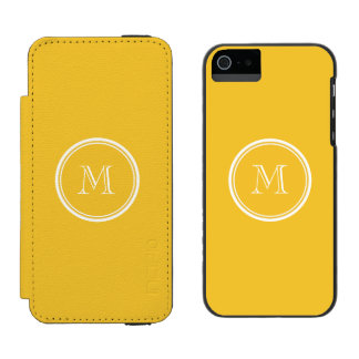 Saffron High End Colored Personalized Wallet Case For iPhone SE/5/5s
