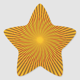 Saffron Illusion Star Sticker