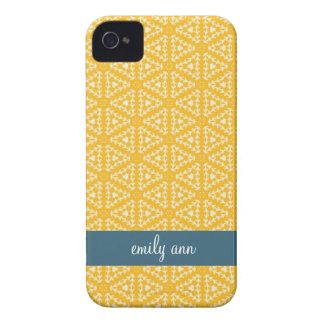 Saffron Kaleidoscope Pattern iPhone4 Case