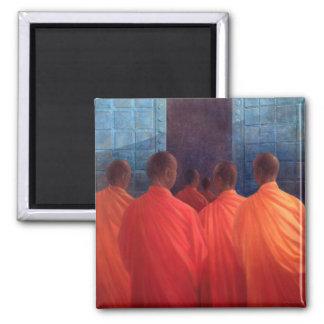 Saffron Monks Magnet