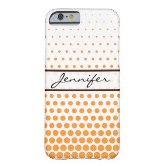 Saffron Polka Dot Elegant Modern White Barely There iPhone 6 Case
