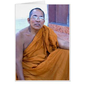 Saffron Robed Monk Greeting Card