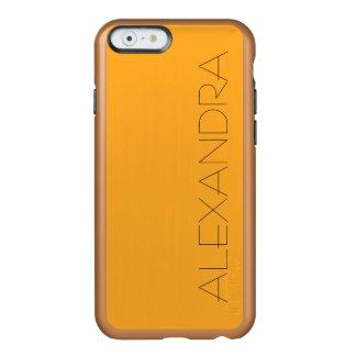 Saffron Solid Color Incipio Feather® Shine iPhone 6 Case