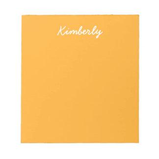 Saffron Solid Color Note Pad
