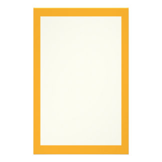 Saffron Solid Color Stationery