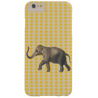 Saffron Spice Moods Dots with Elephant Barely There iPhone 6 Plus Case