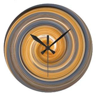 Saffron Swirl Clock