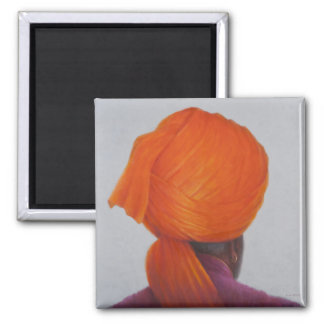 Saffron Turban 2014 Magnet