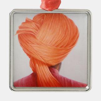 Saffron Turban Metal Ornament