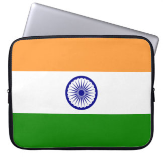 Saffron White and Green Flag of India Computer Sleeve