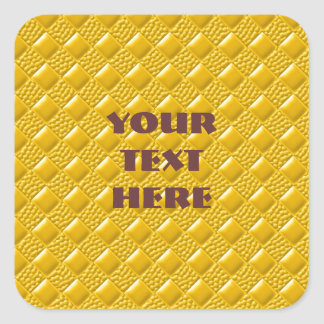 Saffron Yellow Square Sticker