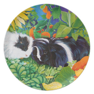 Safi and Zaria Guinea Pigs Plate