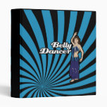 Safira Blue Belly Dancer Vinyl Binders