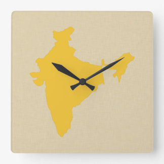 Safron Spice Moods India Square Wall Clock