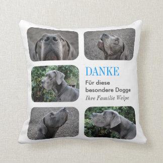 Sag mal Danke deinem Doggenzüchter Throw Pillow