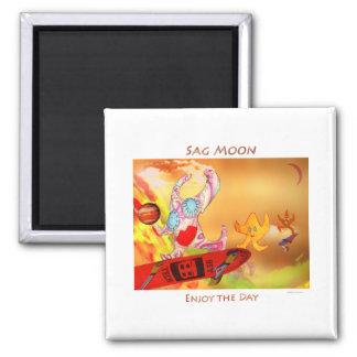 Sag Moon 2 Inch Square Magnet