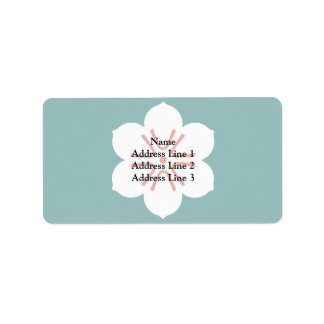 Saga Prefecture, Japan flag Custom Address Labels