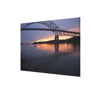 Sagamor Bridge over Cape Cod canal, 2 Canvas Print