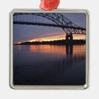 Sagamor Bridge over Cape Cod canal, 2 Metal Ornament