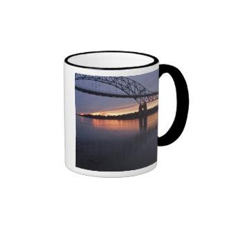 Sagamor Bridge over Cape Cod canal, 2 Ringer Mug