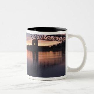 Sagamor Bridge over Cape Cod canal, 2 Two-Tone Coffee Mug