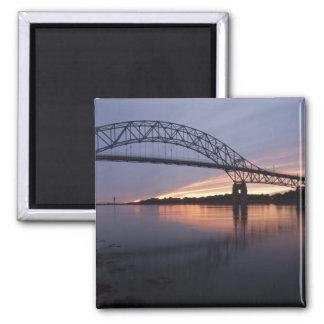 Sagamor Bridge over Cape Cod canal, 2 Inch Square Magnet