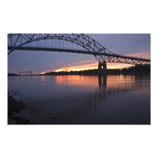 Sagamor Bridge over Cape Cod canal, Photo Print