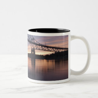 Sagamor Bridge over Cape Cod canal, Two-Tone Coffee Mug