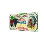 Sagamore Grape LabelHector, NY Canvas Print