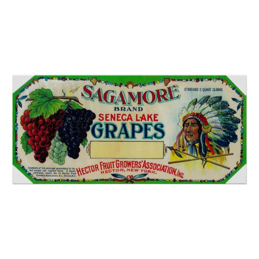 Sagamore Grape LabelHector, NY Poster