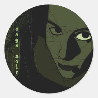 saganoir classic round sticker