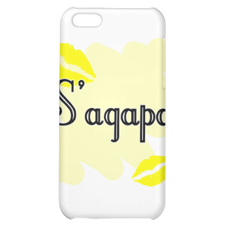 S'agapo - Greek - I love you Cover For iPhone 5C
