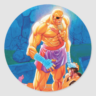 Sagat Beat Dan Classic Round Sticker