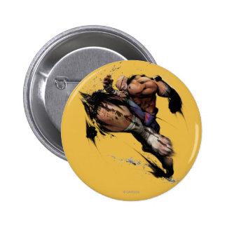 Sagat Knee Pinback Button