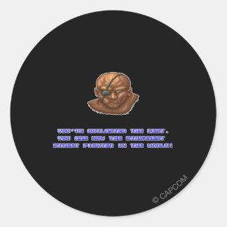 Sagat KO'ed Classic Round Sticker