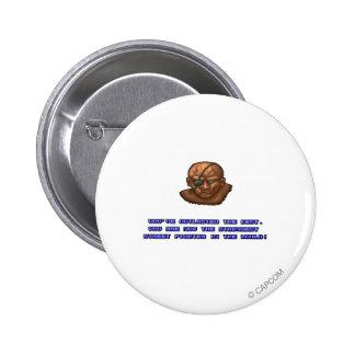 Sagat KO'ed Pinback Button