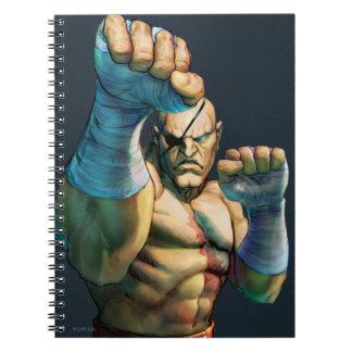 Sagat listo para bloquear spiral notebook